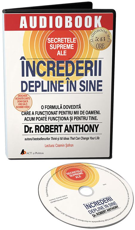 Secretele supreme ale increderii in sine, Carte Audio CD
